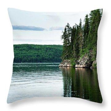 Red Lake Ontario Throw Pillow