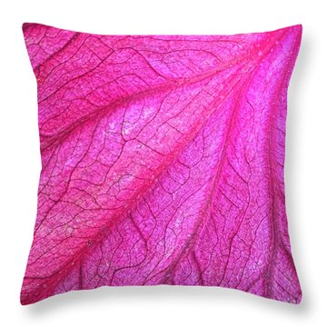 Red Leaf Arteries Throw Pillow