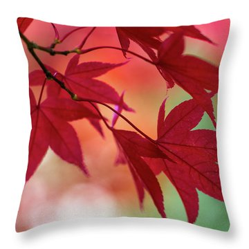 Throw Pillow featuring the photograph Red Leaves by Clare Bambers