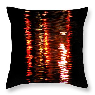 Throw Pillow featuring the photograph Red Light by David Dunham