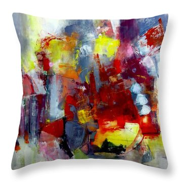 Throw Pillow featuring the painting Red Light by Katie Black