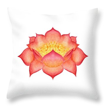 Throw Pillow featuring the painting Red Lotus by Elizabeth Lock
