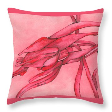 Red Lust Throw Pillow