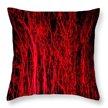Throw Pillow featuring the digital art Red Magic by Doug Kreuger