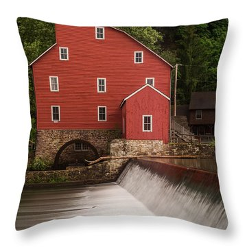 Red Mill Clinton New Jersey Throw Pillow
