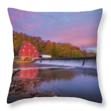 Red Mill Swirls  Throw Pillow