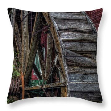 Red Mill Wheel 2007 Throw Pillow