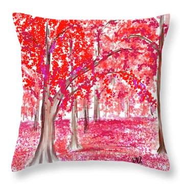 Red Mood Throw Pillow by Angela A Stanton