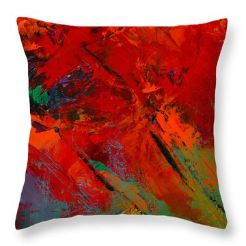 Red Mood Throw Pillow by Elise Palmigiani