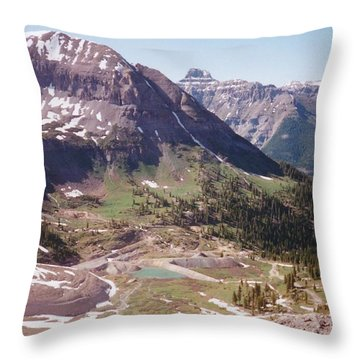 Red Mountain Throw Pillow by Dale Jackson