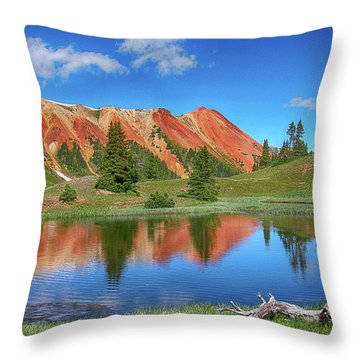 Red Mountain-grey Copper Gulch Throw Pillow