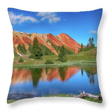 Red Mountain-grey Copper Gulch Throw Pillow