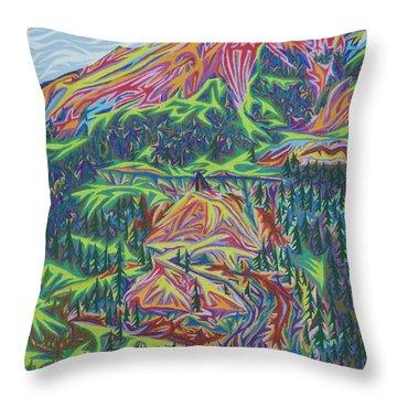 Red Mountain Throw Pillow by Robert SORENSEN