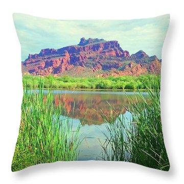 Red Mountain @ Salt River Throw Pillow