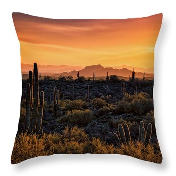 Throw Pillow featuring the photograph Red Mountain Sunset Part Two  by Saija Lehtonen