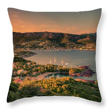 Red Mountains Throw Pillow