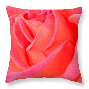 Red No More Throw Pillow by Gwyn Newcombe
