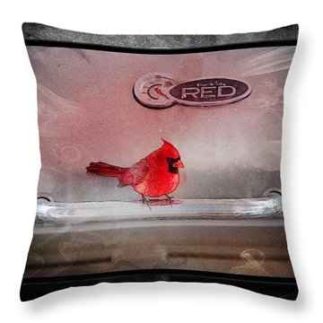 Red On Red Throw Pillow by Ericamaxine Price