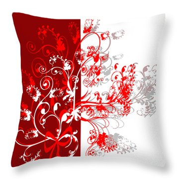 Red Ornament Throw Pillow by Svetlana Sewell