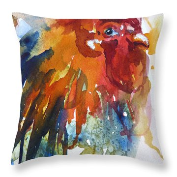 Throw Pillow featuring the painting Red by P Maure Bausch