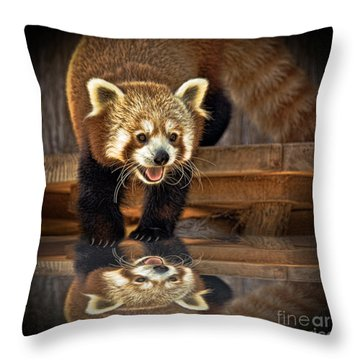 Red Panda Altered Version Throw Pillow