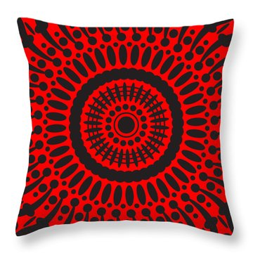 Throw Pillow featuring the digital art Red Passion by Lucia Sirna