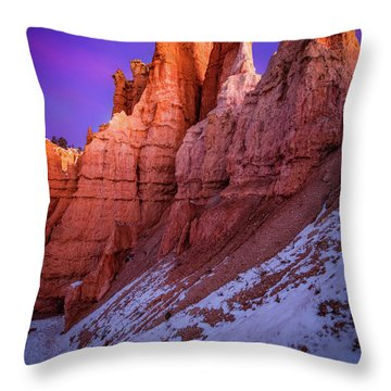 Red Peaks Throw Pillow