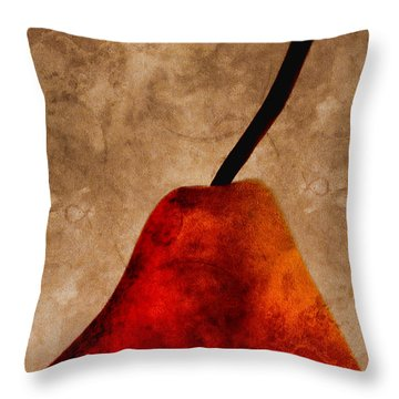Red Pear IIi Throw Pillow by Carol Leigh