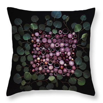 Red Pearl Onions Throw Pillow