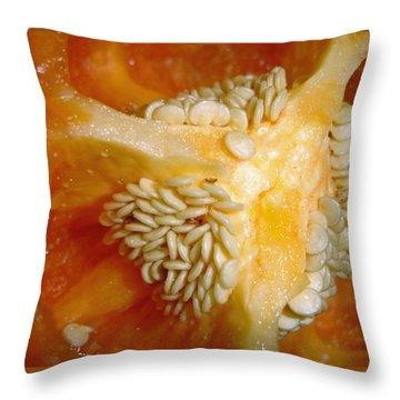 Throw Pillow featuring the photograph Red Pepper by Lynda Lehmann