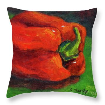 Red Pepper Still Life Throw Pillow