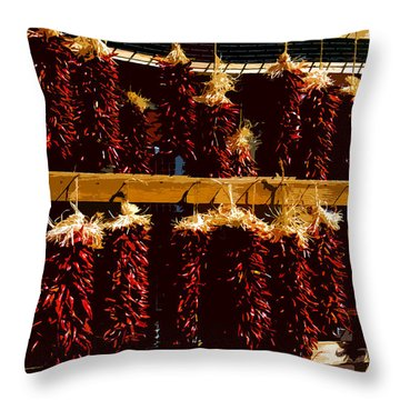 Red Peppers Throw Pillow by David Lee Thompson