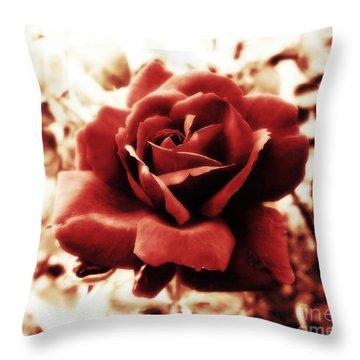 Red Petals Throw Pillow
