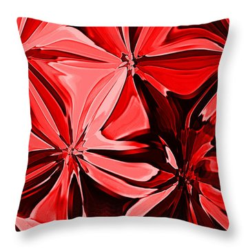 Red Pinched And Gathered Throw Pillow