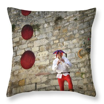 Red Piper Throw Pillow