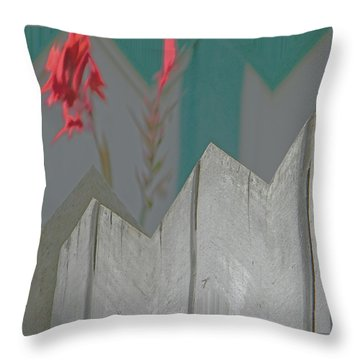 Red Pops Out Throw Pillow by Lenore Senior
