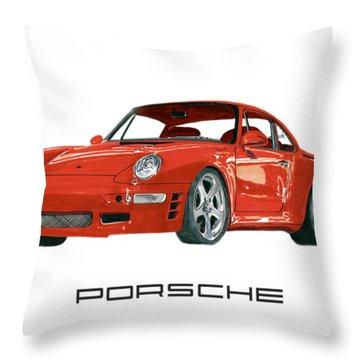 1997  Porsche 993 Twin Turbo R Throw Pillow