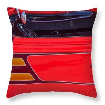 Red Racer Throw Pillow