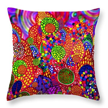 Red Radiance At 15-30 Throw Pillow