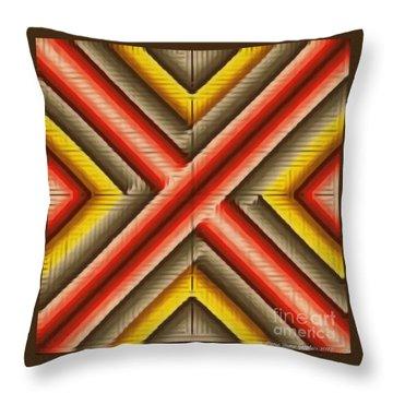 Red Razor Throw Pillow