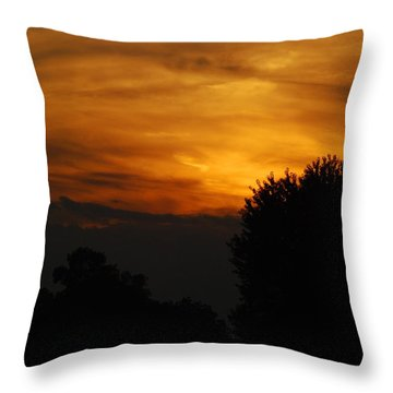 Red Red Sunset Throw Pillow