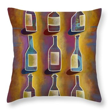 Red Red Wine Throw Pillow by Carla Bank