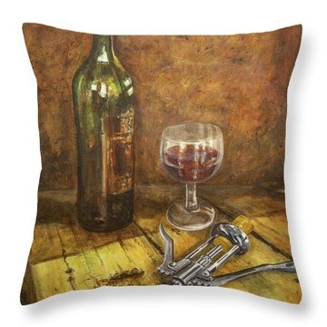 Red Red Wine Throw Pillow by Marty Garland