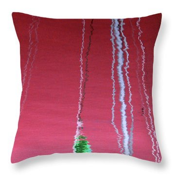 Throw Pillow featuring the photograph Red Reflection On Water by Emanuel Tanjala