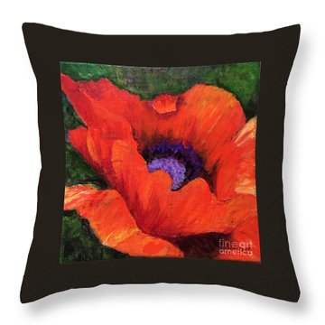 Red Rhapsody Throw Pillow
