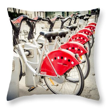 Throw Pillow featuring the photograph Red Rider by Jason Smith