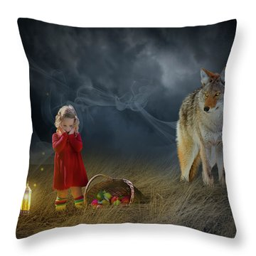 Red Riding Hood V2 Throw Pillow