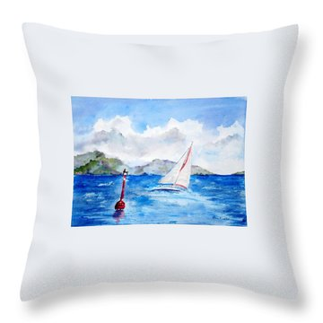 Red Right Returning Throw Pillow