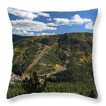Red River In October Throw Pillow