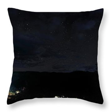 Red River Under Starry Skies Throw Pillow
